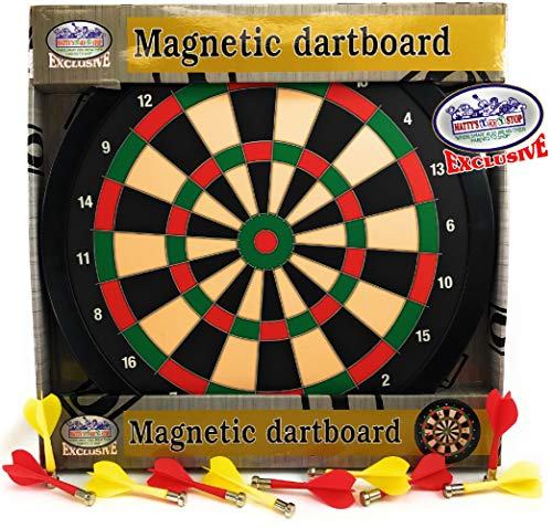 Matty's Toy Stop Deluxe Magnetic Dartboard (Dart Board) 15.5
