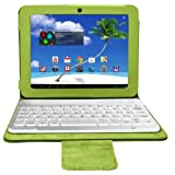 Proscan 8-Inch Android Tablet, Dual Core Processor, 1 GB Ram, 8 GB Memory, with Bluetooth and Wireless Bluetooth Case/Keyboard, Google Play Certified, Green