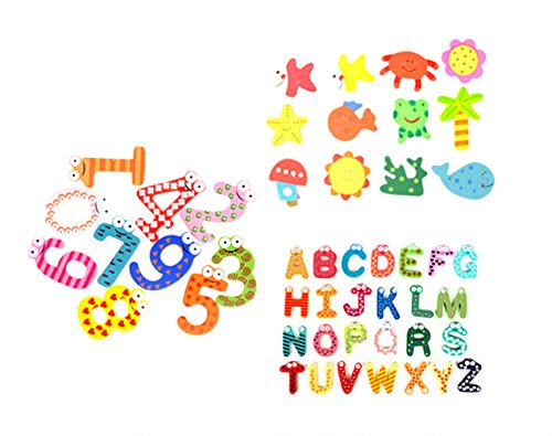 Price comparison product image Novelty House Educational Toys 48pcs Refrigerator Magnets Number Letters Animal Cartoon Fun Fridge Magnets for Toddlers Kids Gift Set