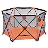 Orange Mesh, Steel tube Baby Playpen With Ebook