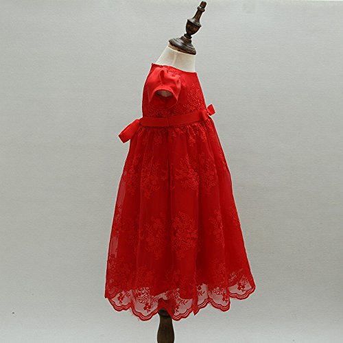 niña Vestido de niña de ZAMME niña de flor bautizos bautizo de vestido Rojo de BZwqgngEd