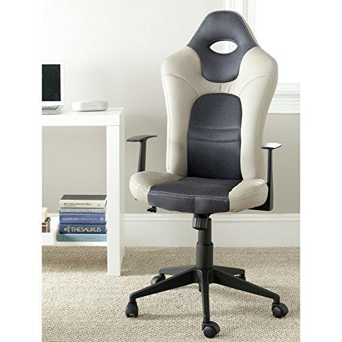 Leather Belinda (Safavieh Home Collection Belinda Grey Desk Chair)