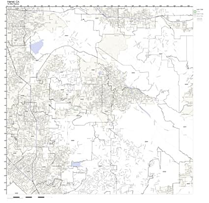 Hemet Ca Zip Code Map.Amazon Com Hemet Ca Zip Code Map Not Laminated Home Kitchen