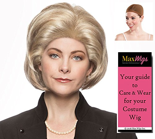 Hillary Clinton Color Mixed Blonde - Enigma Wigs 2016 First Lady Candidate Democrat Bundle w/Cap, MaxWigs Costume Wig Care Guide