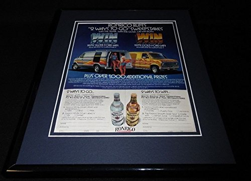 1979 Ford Van / Ronrico Rum Framed 11x14 ORIGINAL Vintage Advertisement