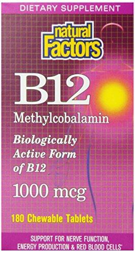 Natural Factors vitamine B12 Tabs,