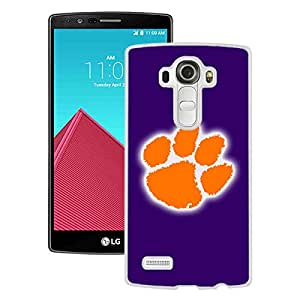 For LG G4,NCAA Atlantic Coast Conference ACC Footballl Clemson Tigers 4 White Protective Case For LG G4