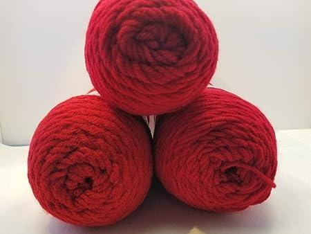 Red Heart Super Saver Hilo – Paquete de 3 – rojo cereza – sin ...