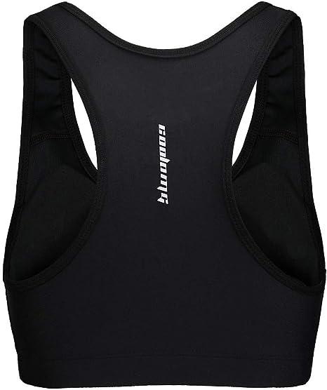 COOLOMG Damen Sport BH Top Yoga Fitness Training Schultertr/äger BH-Polster abnehmbar Push up Bras f/ür Damen MEHRWEG