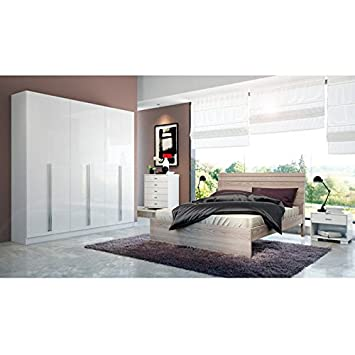 Amazoncom Manhattan Comfort Eldrige Collection Door - Manhattan bedroom furniture