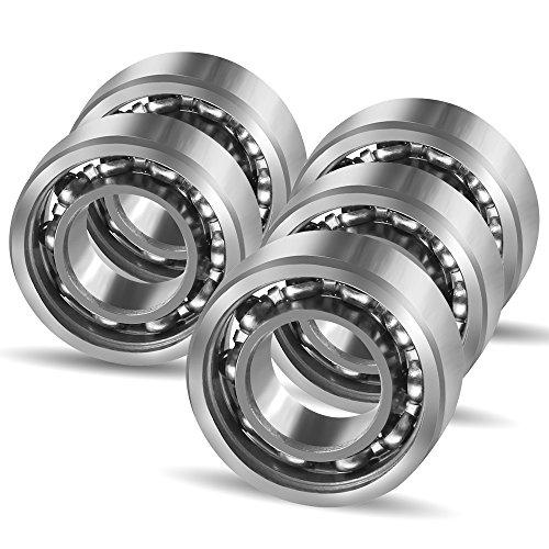 Ceramic Silicon Nitride Bearing (Coogam R188 Hybrid Ceramic 10 Ball Bearing for Fidget Spinner DIY Replacement,Si3N4 Silicon Nitride Black Ceramic,Pack of 5 (Size R188))