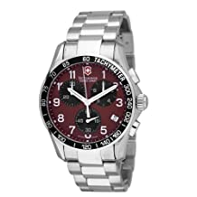 Victorinox Swiss Army Men's Chrono Classic 241148 Silver Stainless-Steel Analog Quartz Watch with Red Dial