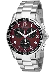 Victorinox Swiss Army Mens 241148 Classic Chronograph Red Dial Watch