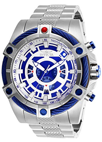 (Invicta Men's Star Wars Quartz Watch with Stainless-Steel Strap, Silver, 26 (Model:)