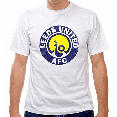 Leeds United Vintage Crest Soccer T-shirt, White, (Leeds United Shirt)