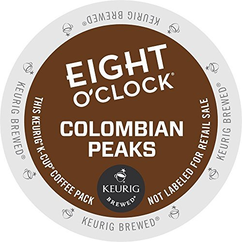 - Keurig, Eight O'Clock Coffee, 100% Colombian/Colombian Peaks, K-Cup packs, 24 Count