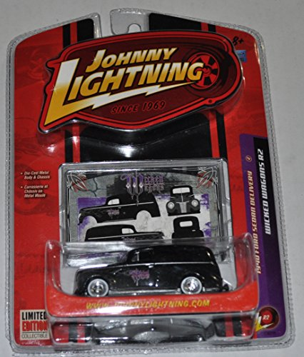 1940 Ford Sedan Delivery - Wicked Wagons R2 - Johnny Lightning - Diecast Car