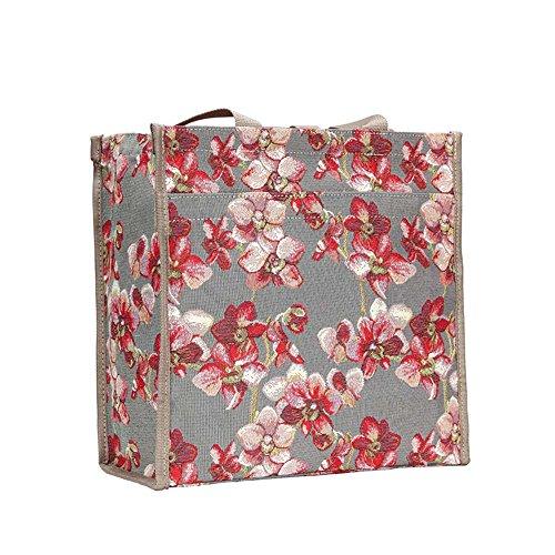 Sac Orchidée Shopper Femme Tapisserie Mode Signare OzxdTqwdX