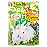 Easter Bunny Eggs Spring Colors House Flags House Size 28x40''
