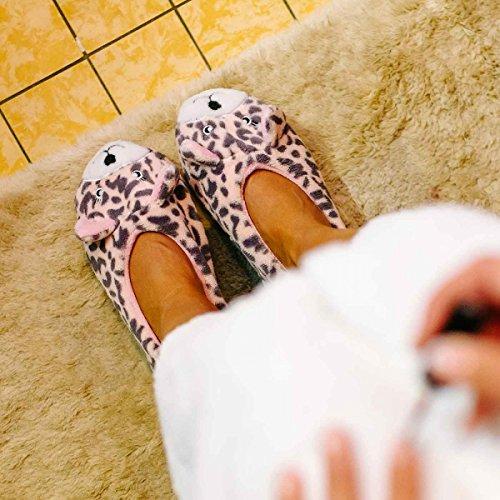 Funslippers, Pantofole di peluche animali figurine donna ragazza rose 36 -41
