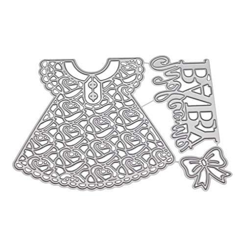 Danyerst Baby Girls Skirt Metal Carbon Steel Cutting Dies, Album Stamp Scrapbook Cards Making Template, DIY Handmade Christmas Gift Embossing Decor