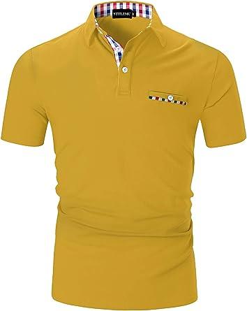 STTLZMC Casual Polo Hombre Mangas Corta Camisetas Deporte Algodón ...