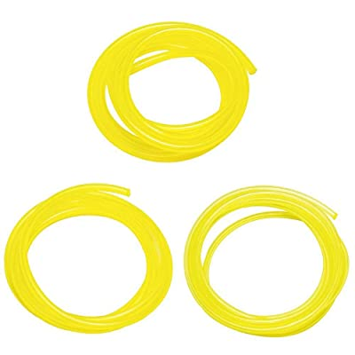 "Podoy Tygon Fuel Line for Compatible with Poulan Weedeater Ryobi Poulan Husqvarna Trimmer Lawn Mower Chainsaw Parts Hose Tube 2 Cycle 3 Sizes I.D. 080"" 3/32"" 1/8"" Yellow 5 feet 530069216: Garden & Outdoor"