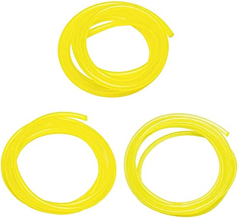Amazon Com Podoy Tygon Fuel Line For Compatible With Poulan Weedeater Ryobi Poulan Husqvarna Trimmer Lawn Mower Chainsaw Parts Hose Tube 2 Cycle 3 Sizes I D 080 3 32 1 8 Yellow 5 Feet 530069216