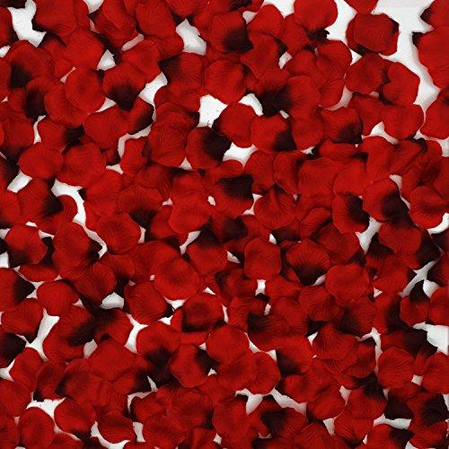 3000 PCS Rose Petals Wedding Flowers – Doubletwo Dark Silk Artificial Rose Flowers Petals