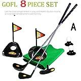 Plastic Clubs Golf Putting Green Indoor Set Toy Game 12 PCS Pack Par Putter Balls Flat Mat