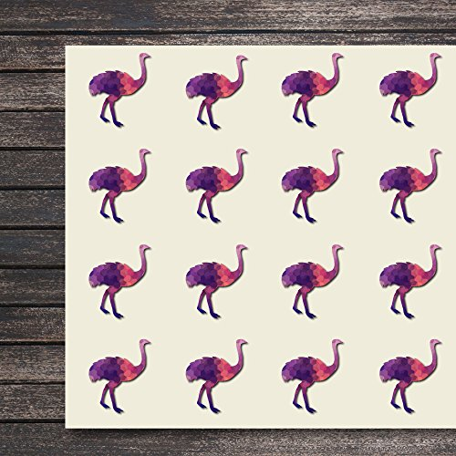 Ostrich Craft Stickers, 44 Stickers at 1.5 Inches, Great Shapes for Scrapbook, Party, Seals, DIY Projects, Item 1321268