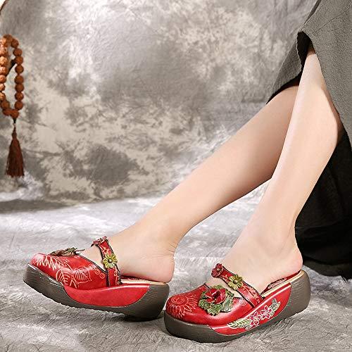 39 Zhrui Rosso Dimensione colore Scarpe Eu Rosso x8g7Xx