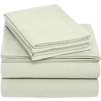 Pinzon Cotton Flannel Bed Sheet Set - California King, Sage