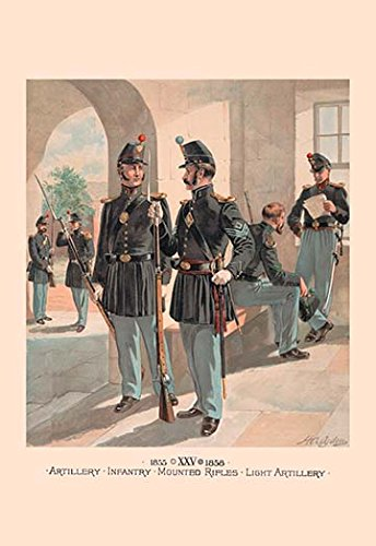 - Mounted Rifles - Light Artillery 28x42 Giclee On Canvas ()