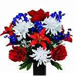 Rubys-Silk-Flowers-Red-White-and-Blue-Mix-Artificial-Bouquet-Featuring-The-Stay-in-The-Vase-Designc-Flower-Holder-MD1119