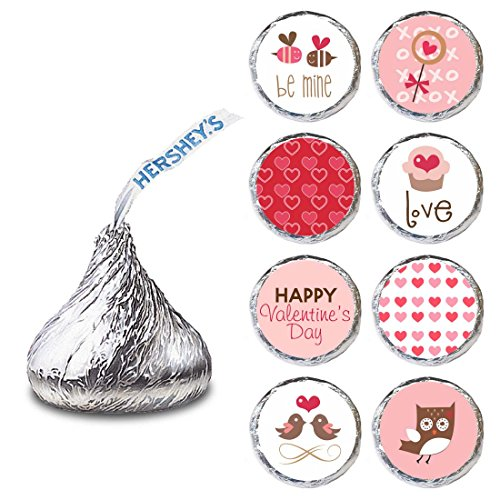 Valentine's Day Label for HERSHEY'S KISSES® chocolates - Love Valentine Candy Stickers - Set of 240