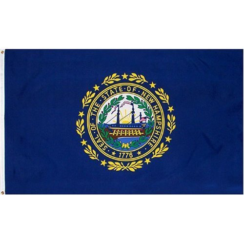 3 x 5 FT - NEW HAMPSHIRE FLAG - INDOOR-PARADE