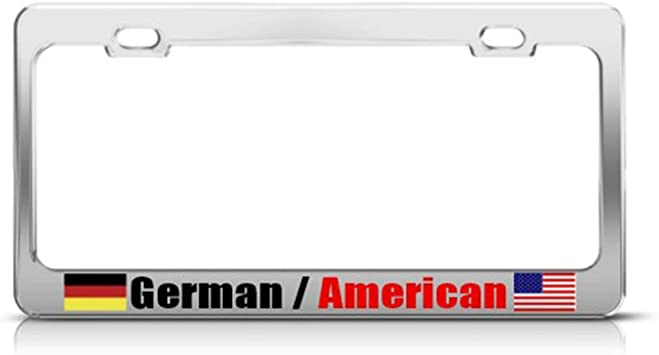 Chrome License Plate Frame Proud To Be American Auto Accessory Novelty