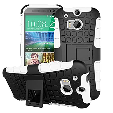 HTC M8 Case,HTC M8 Case*HOT* Shockproof Absorbing Dual Layer Hybrid Holster Cover Kickstand Case for HTC M8 2015 Release,Premium Hybrid Bumper Case (M8 Cell Phone Case Wallet)