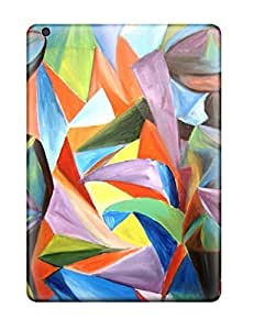 Durable Defender Case For Ipad Air Tpu Cover(abstract Painting )