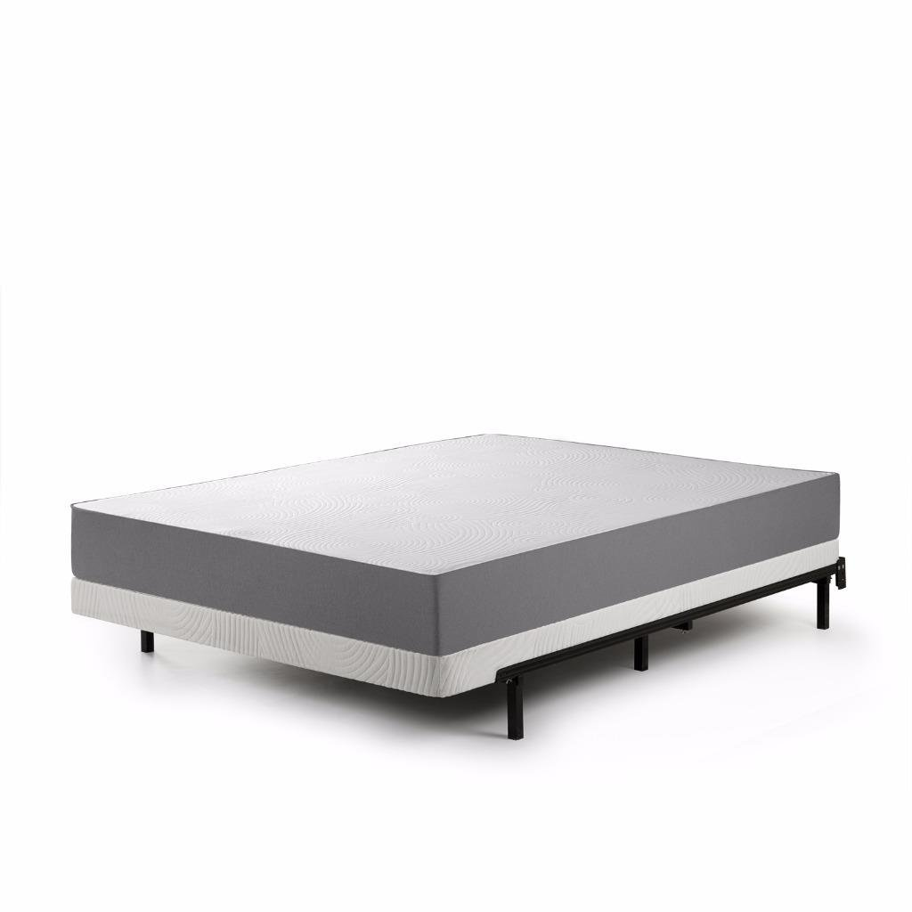 Zinus Jayanna 4 Inch Low Profile BiFold Box Spring / Folding Mattress Foundation / Strong Steel Structure / No Assembly Required, Queen
