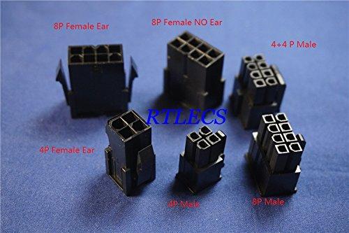 Davitu 4.20 mm 4 8 4+4 Pin Male Female Housing PC computer ATX CPU PSU EPS12V Mainboard Motherboard Power Connector Plug Receptacle - (Color: 8P Female Ear)