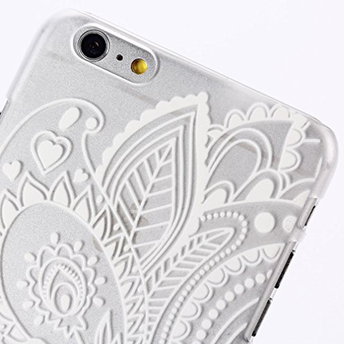 For iPhone 6 (4.7 inch) [Protection Case] , [3D Feel] Fashionable Cartoon Leaf Henna Pattern Hard Design Unique [Slim Fit] Skin Shell Back Case Cover for Apple iPhone 6 (4.7 inch) / iPhone Air