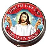 Jesus Pill Box - Compact 1 or 2 Compartment Medicine Case