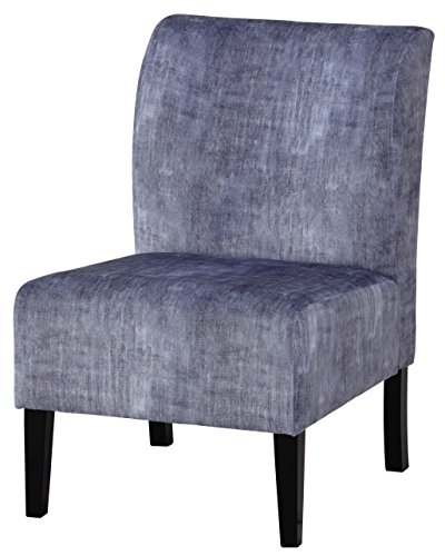 Ashley Furniture Signature Design - Triptis Accent Chair - Contemporary - Denim - Dark Brown Legs - Fabric Upholstered Corner Chair