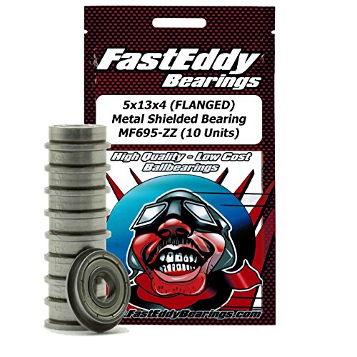 5x13x4 (FLANGED) Metal Shielded Bearing F695-ZZ (10 Units)
