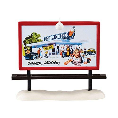 Department 56 Snow Village Dairy Queen Billboard Accessory Figurine, 5.75