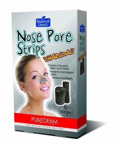 Purederm Charcoal Nase Pore Strips, 1 Packung (6 Streifen)