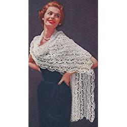 Vintage Crochet PATTERN to make - Stole Shawl Wrap Hairpin Lace. NOT a finished item. This is a pattern and/or instructions to make the item only.
