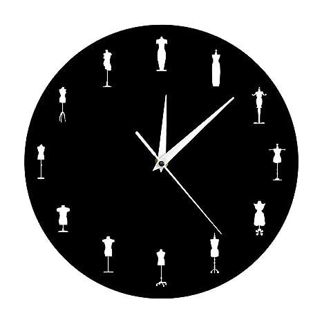 WYFCC Confeccionar Muñecas Diseñadas Reloj De Pared Tienda De Moda Sala De Costura Decoración De Pared